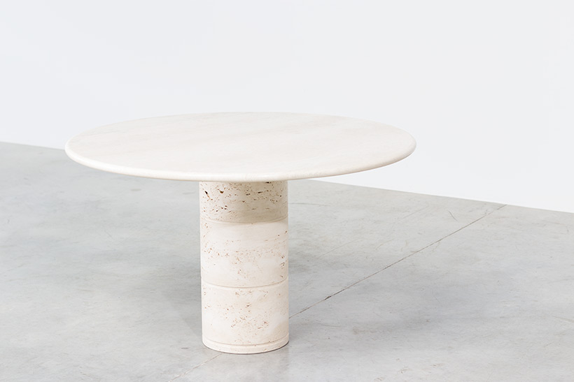 UP UP Modern travertine dinning table or console circa 1970 img 4