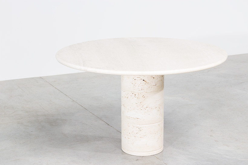 UP UP Modern travertine dinning table or console circa 1970 img 5