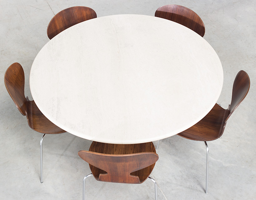 UP UP Modern travertine dinning table or console circa 1970 img 6
