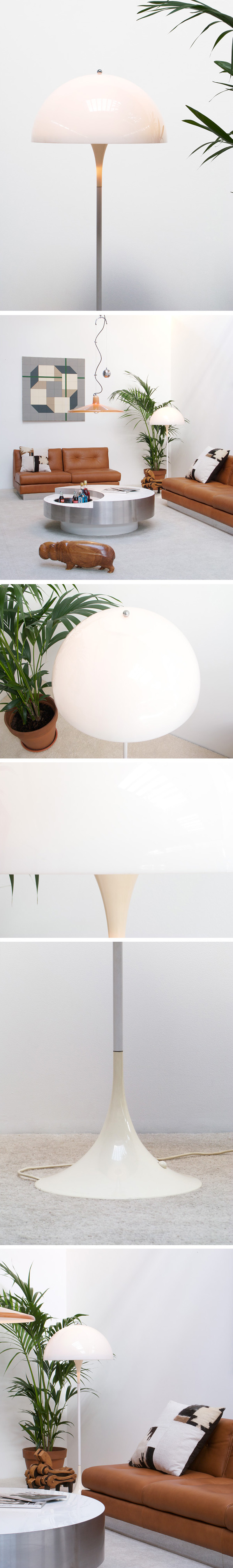 Verner Panton Panthella floor lamp Louis Poulsen Large