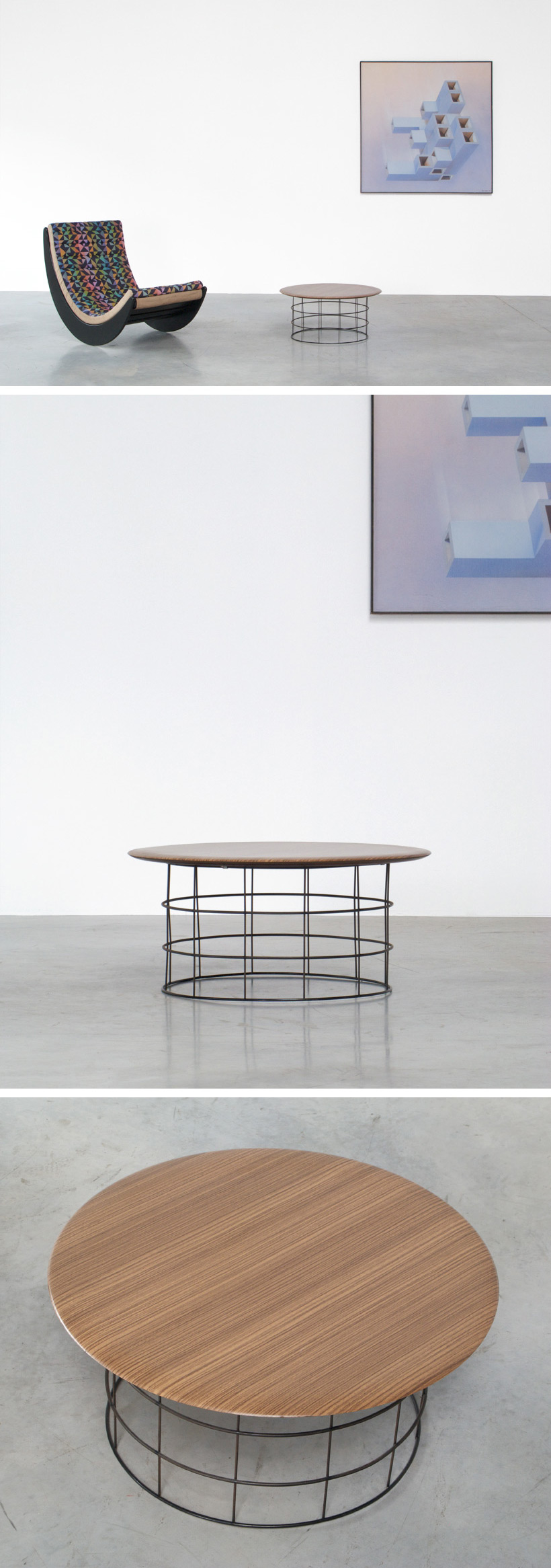 Verner Panton Plus-linje coffee table Large