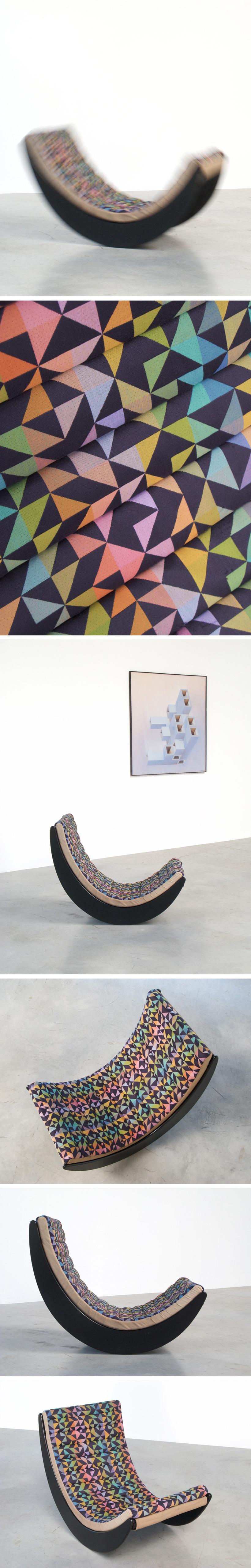 Verner Panton Relaxer 2 Rocking chair Rosenthal Large