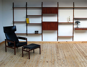 Wall unit ROYAL SYSTEM Design Poul Cadovius Denmark