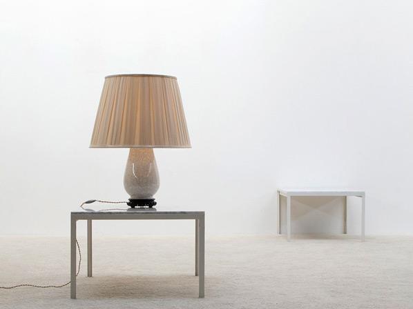 White ivory ceramic table lamp