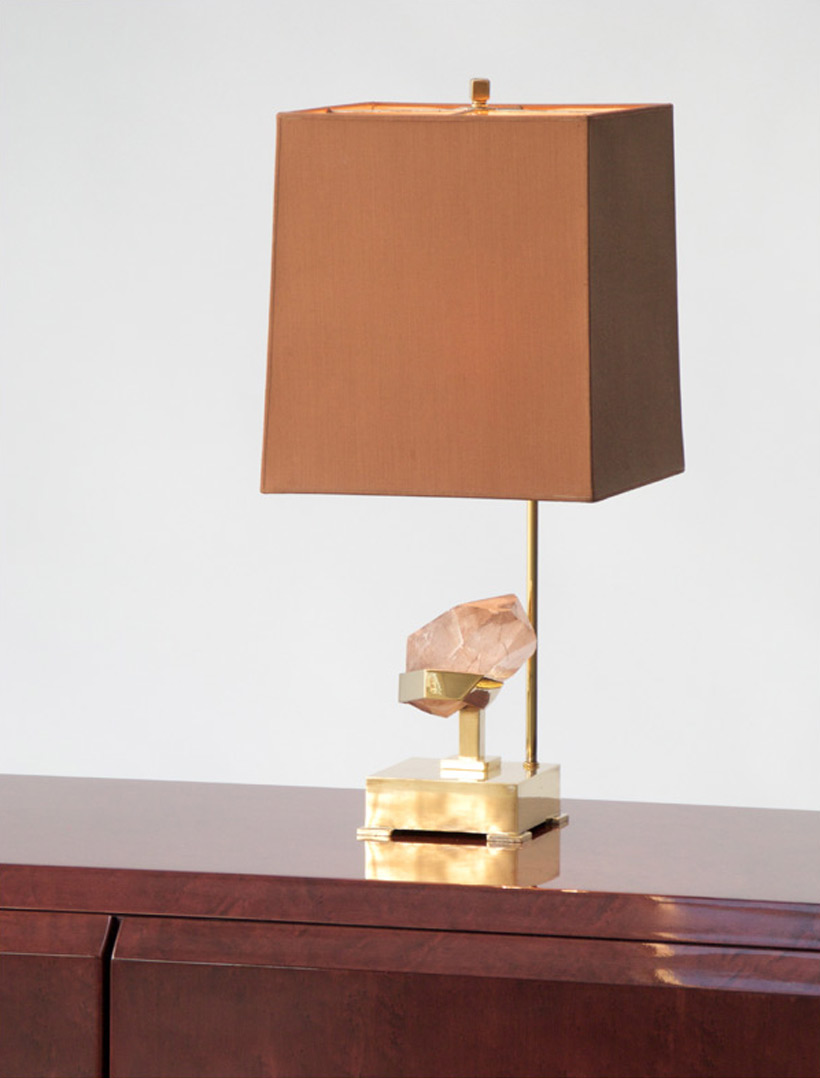 Willy Daro Table lamp with rutile quartz