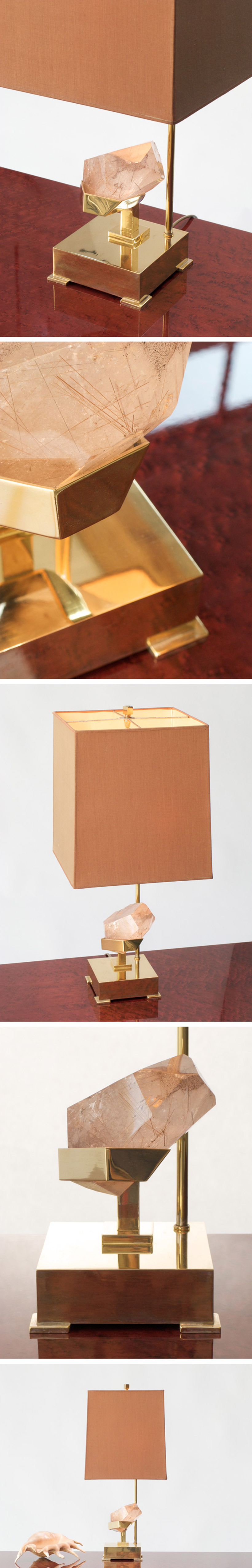 Willy Daro Table lamp with rutile quartz Large