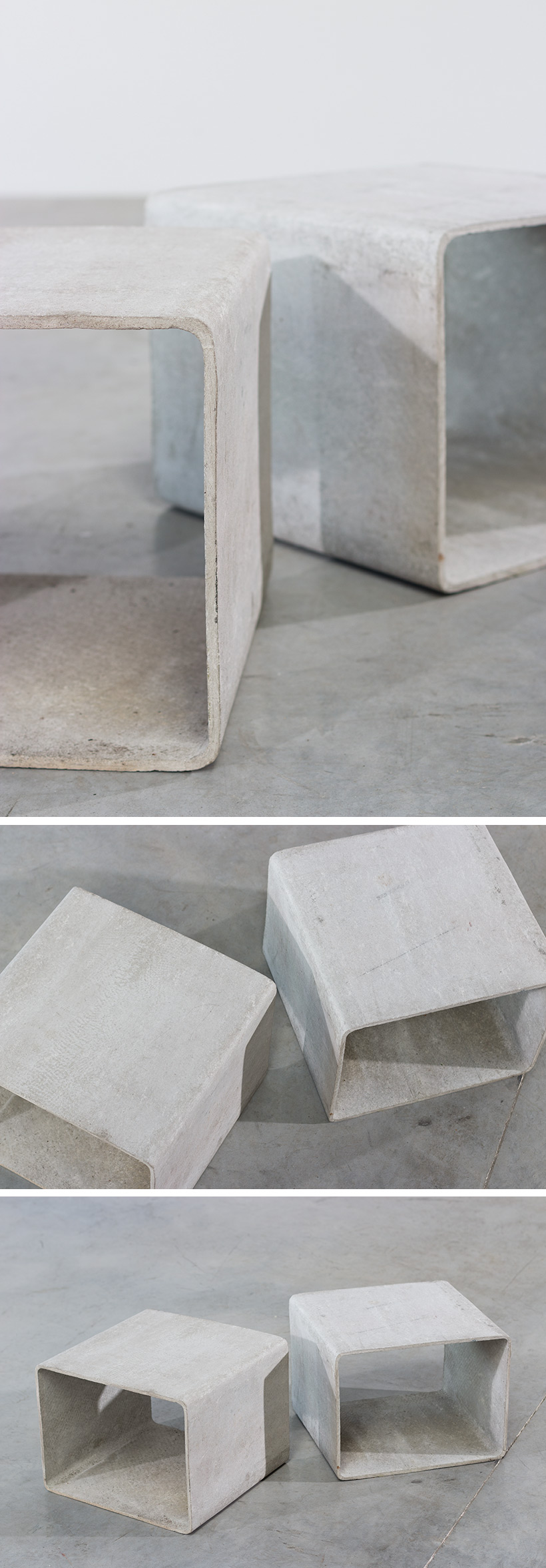 Willy Guhl modular cubic tables for Eternit AG Large