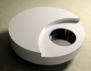 Willy Rizzo circular revolving coffee table Cassini