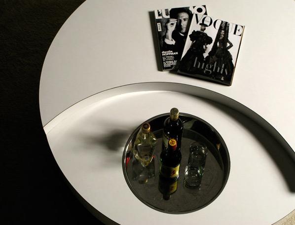 Willy Rizzo circular revolving coffee table Cassini
