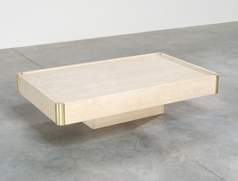 Willy Rizzo rectangular coffee cocktail table