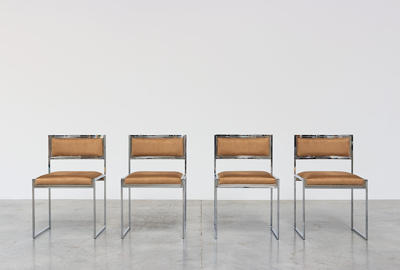 Willy Rizzo set of four cubistic dining chairs circa 1970 img 5