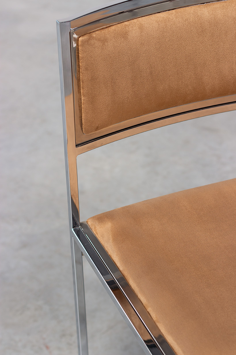 Willy Rizzo set of four cubistic dining chairs circa 1970 img 6