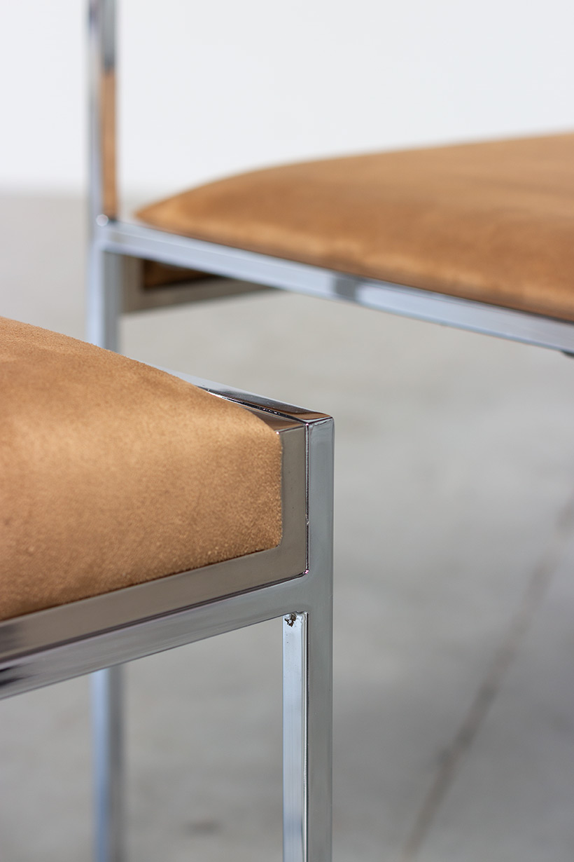 Willy Rizzo set of four cubistic dining chairs circa 1970 img 7
