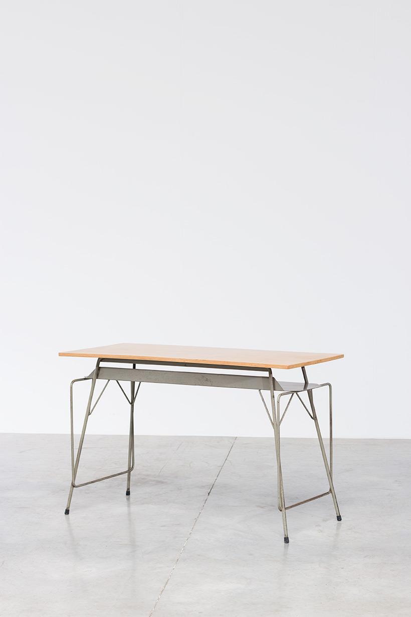Willy Van Der Meeren Belgian vintage writing furniture tubax table img 3