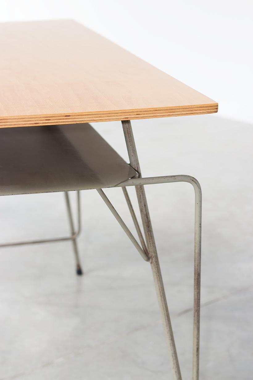 Willy Van Der Meeren Belgian vintage writing furniture tubax table img 4