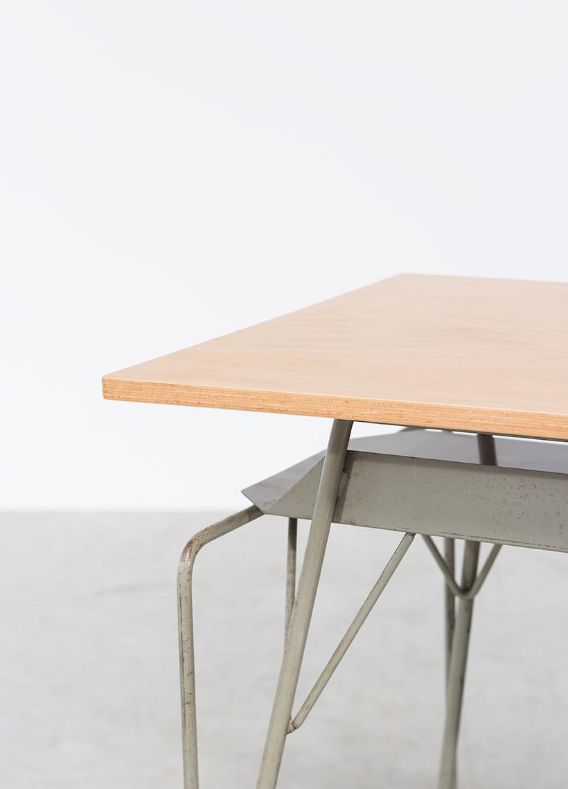 Willy Van Der Meeren Belgian vintage writing furniture tubax table img 6