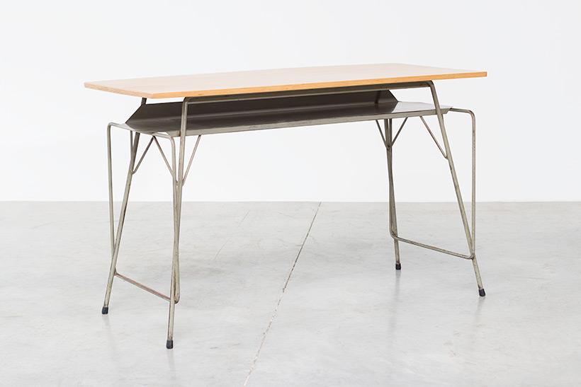 Willy Van Der Meeren Belgian vintage writing furniture tubax table img 7