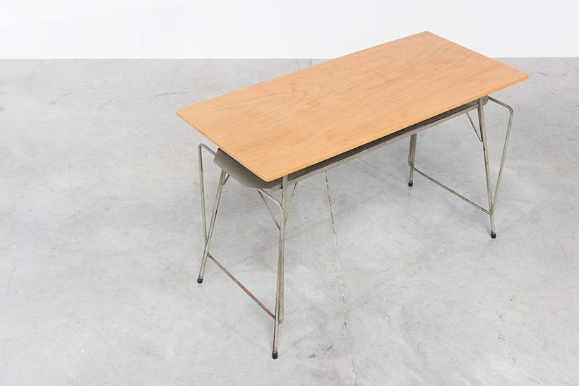 Willy Van Der Meeren Belgian vintage writing furniture tubax table img 8