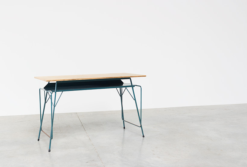Willy Van Der Meeren blue desk writing table for Tubax img 3