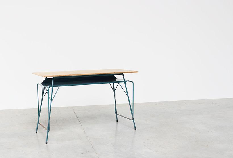 Willy Van Der Meeren blue desk writing table for Tubax img 3