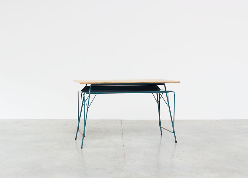 Willy Van Der Meeren blue desk writing table for Tubax img 5