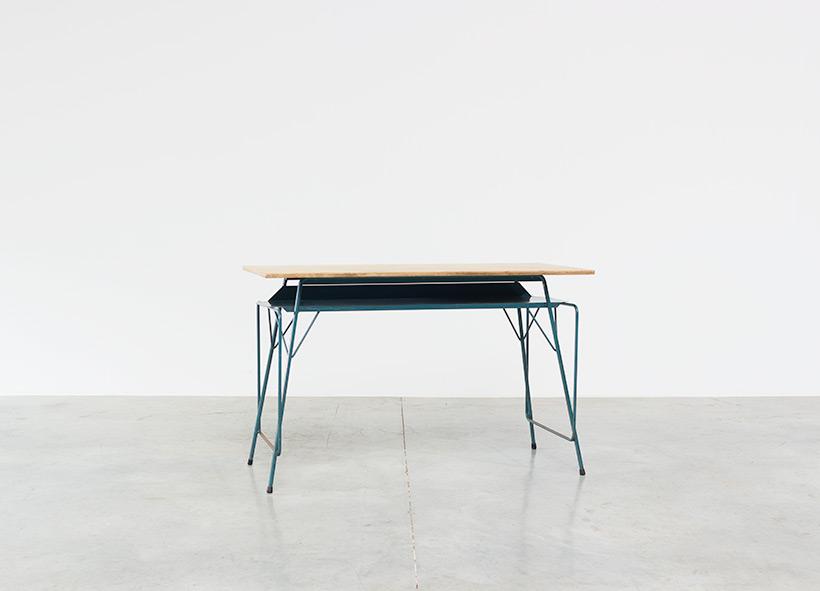 Willy Van Der Meeren blue desk writing table for Tubax img 5
