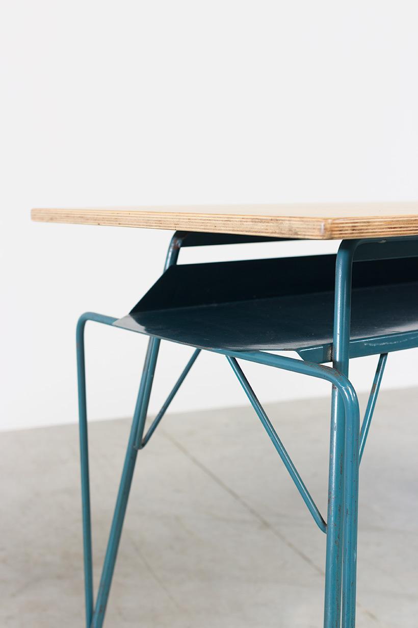 Willy Van Der Meeren blue desk writing table for Tubax img 6