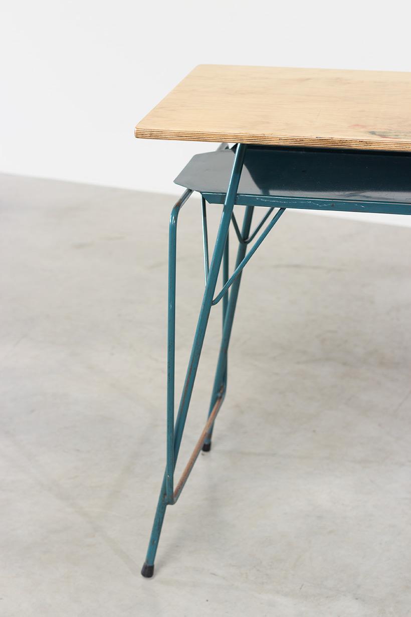 Willy Van Der Meeren blue desk writing table for Tubax img 7