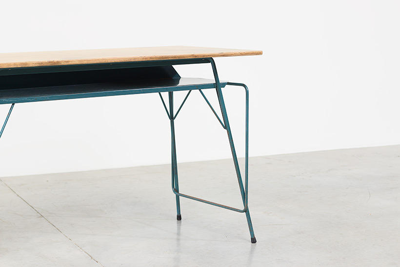 Willy Van Der Meeren blue desk writing table for Tubax img 8
