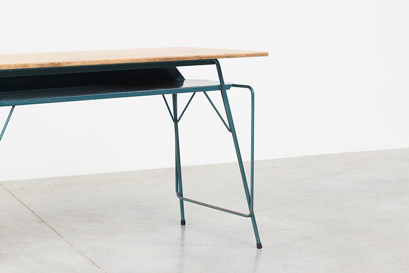 Willy Van Der Meeren blue desk writing table for Tubax img 8