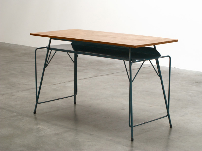 Willy Van Der Meeren blue writing table for Tubax