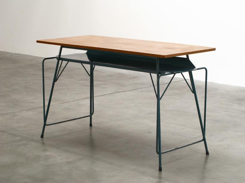 Willy Van Der Meeren blue writing table for Tubax