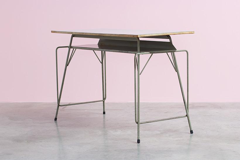 Willy Van Der Meeren desk writing furniture tubax table 1950 img 3