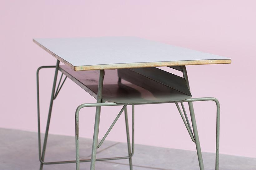 Willy Van Der Meeren desk writing furniture tubax table 1950 img 4