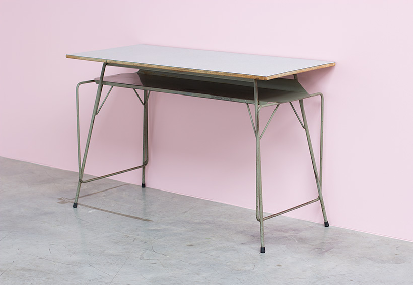 Willy Van Der Meeren desk writing furniture tubax table 1950 img 6