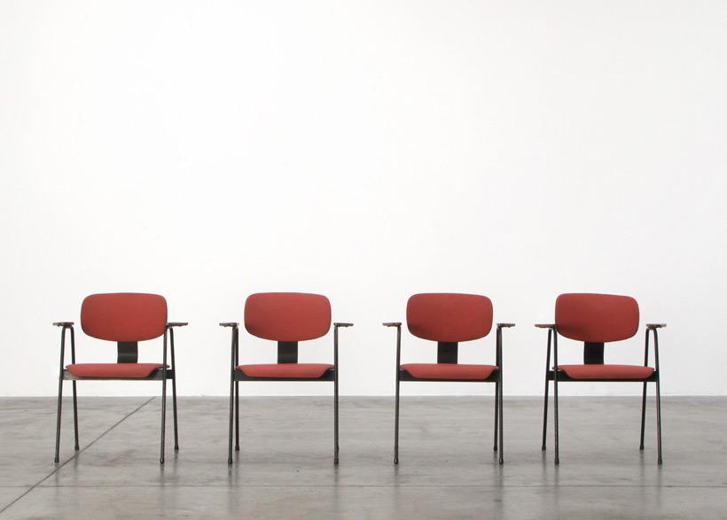 Willy Van Der Meeren F2 4 Dinning chairs