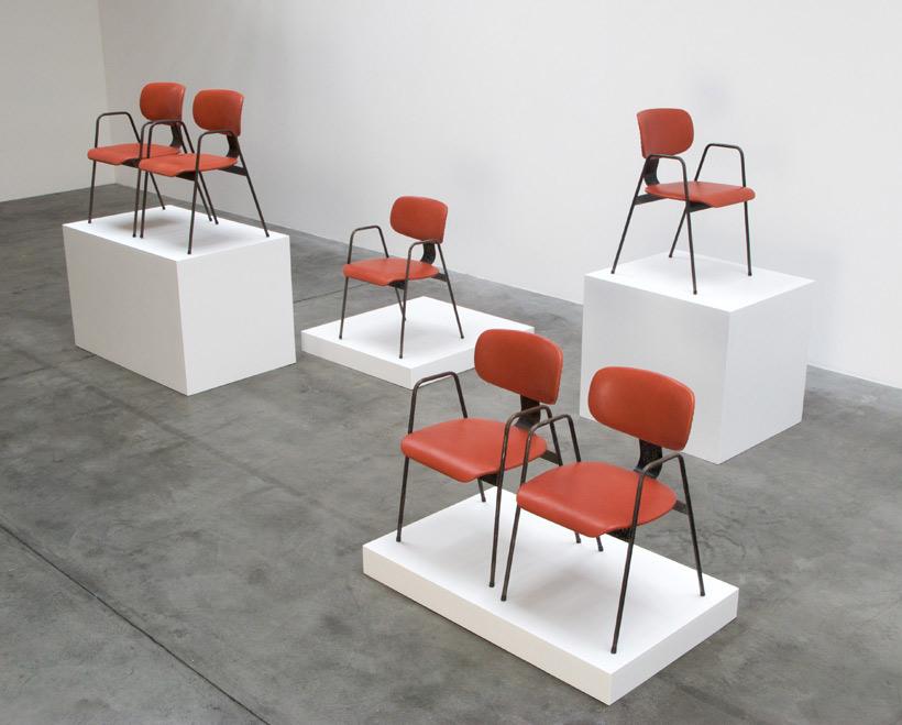 Willy Van der Meeren F2 6 Dinning chairs