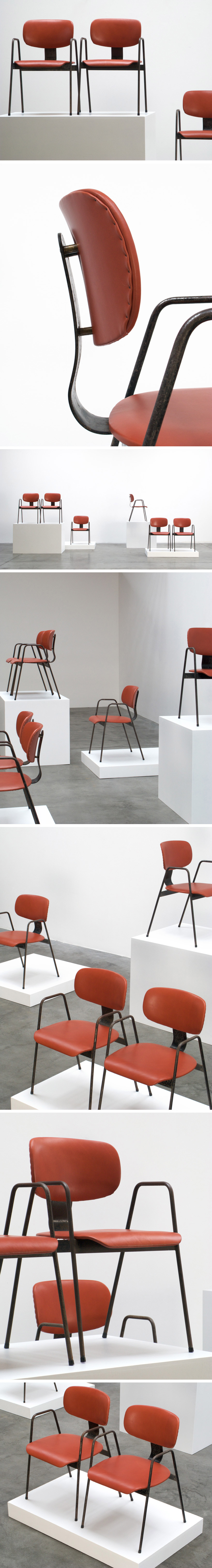 Willy Van der Meeren F2 6 Dinning chairs Large