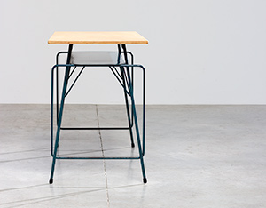 Willy Van Der Meeren modern desk 1950 Belgian Social furniture