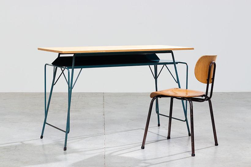 Willy Van Der Meeren modern desk 1950 Belgian Social furniture img 3