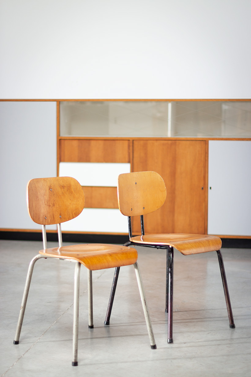 Willy van der Meeren pair of chairs for Tubax 1950