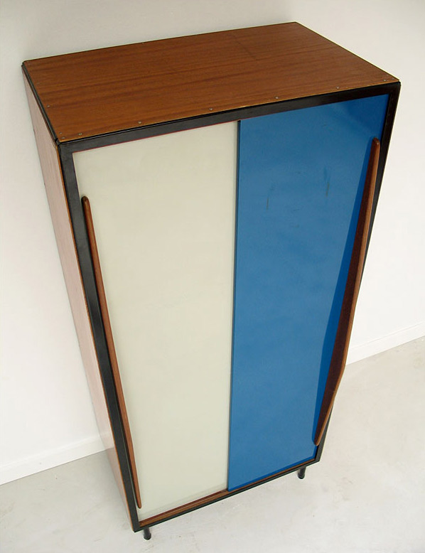 Willy Van Der Meeren Tubax 1952 Wardrobe Cabinet