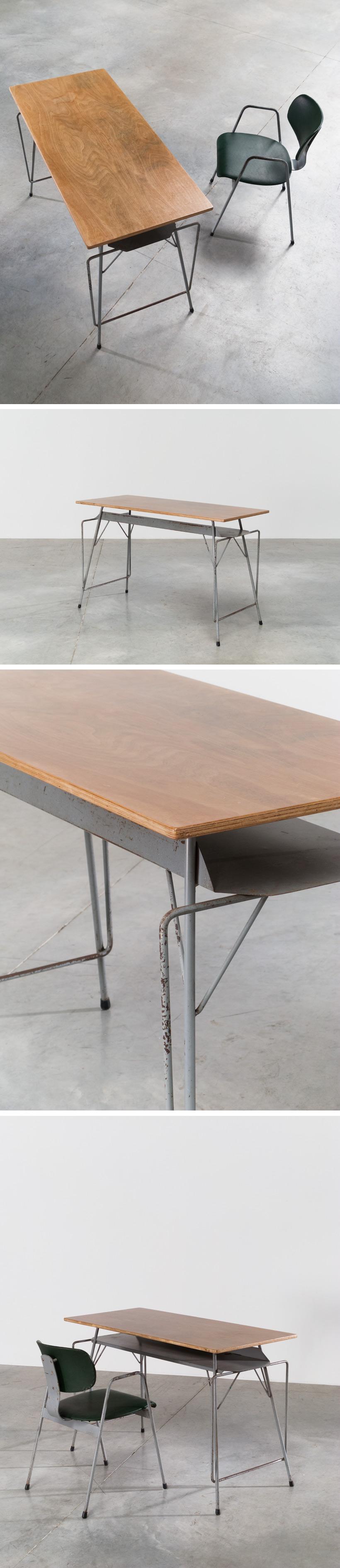 Willy Van Der Meeren Tubax grey writing table Large
