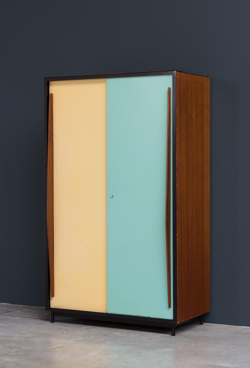 Willy Van Der Meeren wardrobe Cabinet Tubax 1952 Large