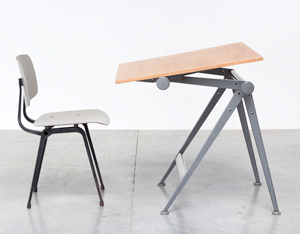 Wim Rietveld drafting table Reply and Friso Kramer Result chair