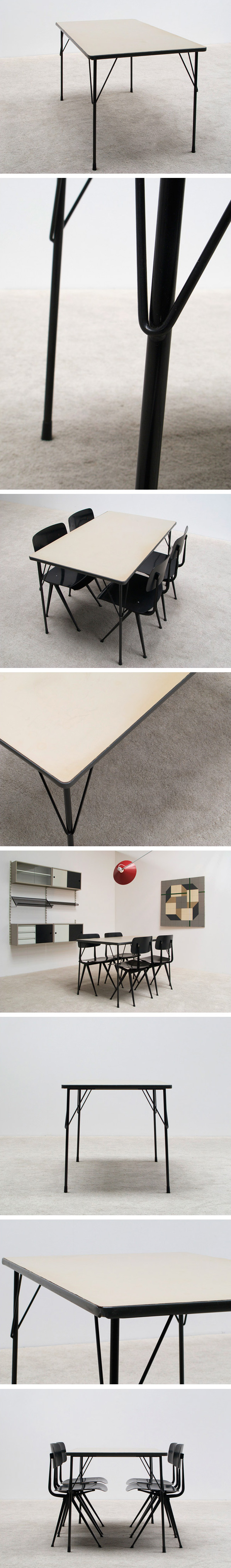 Wim Rietveld industrial dinning table Gispen Large