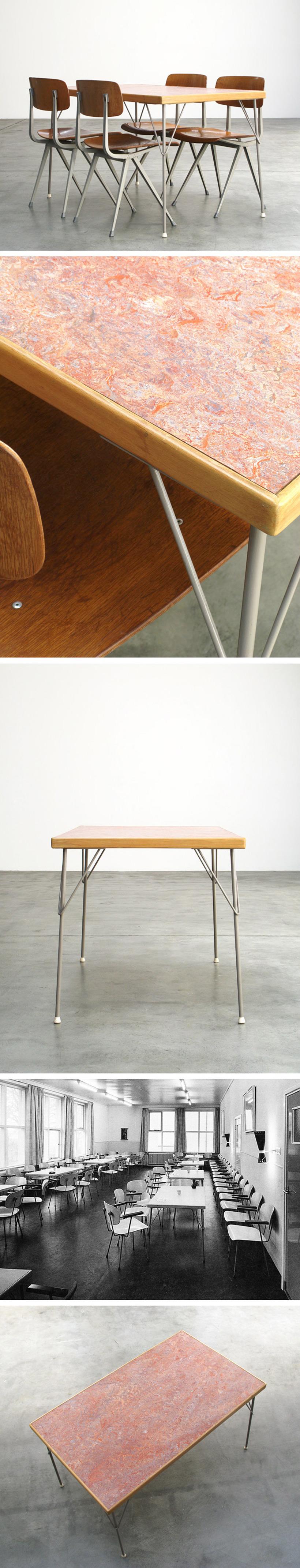 Wim Rietveld industrial dinning table Gispen Large