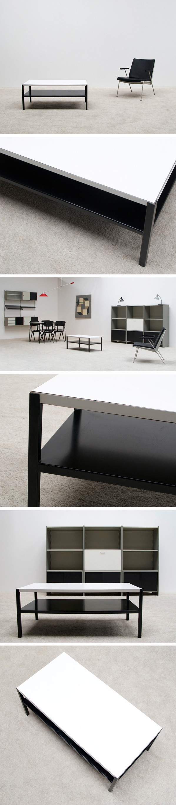 Wim Rietveld Industrial Regal coffee table Large