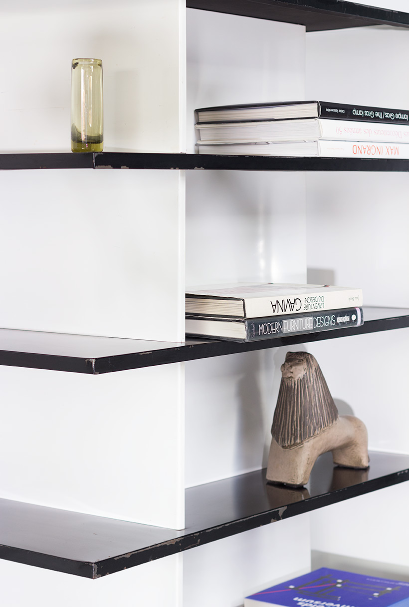 Wim Rietveld pair bookcases shelving units room divider for De Bijenkorf img 10