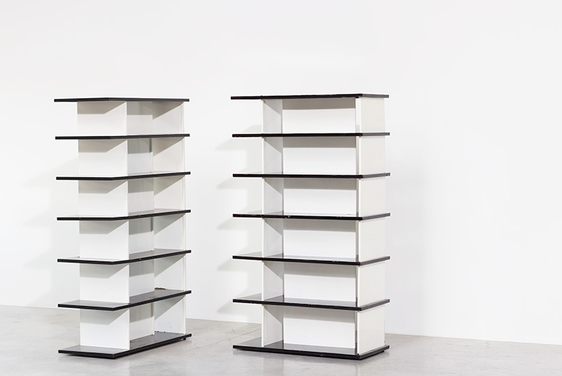 Wim Rietveld pair bookcases shelving units room divider for De Bijenkorf img 3